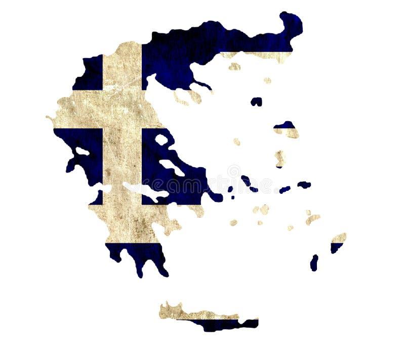 Винтажная бумажная карта Греции бесплатная иллюстрация
