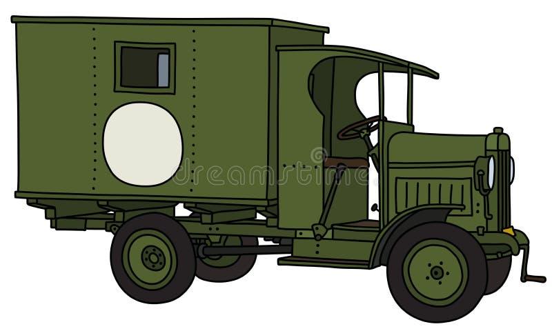 Винтажная воинская машина скорой помощи иллюстрация штока