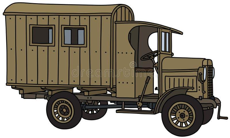 Винтажная воинская тележка бесплатная иллюстрация