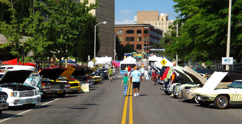 Винтажная выставка автомобиля - Roanoke, Вирджиния, США стоковая фотография rf