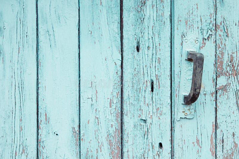 Винтажная голубая деревянная предпосылка Старая выдержанная доска аквамарина текстура Картина стоковые фото