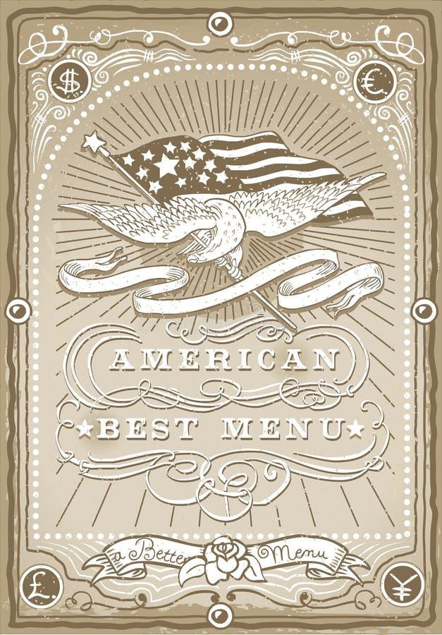 Download Винтажная графическая страница для американского меню Иллюстрация вектора - иллюстрации насчитывающей старо, агенства: 33726275