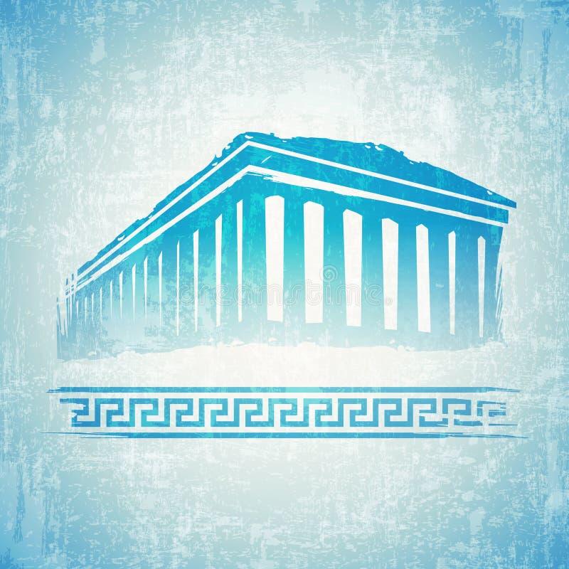 Винтажная Греция иллюстрация штока