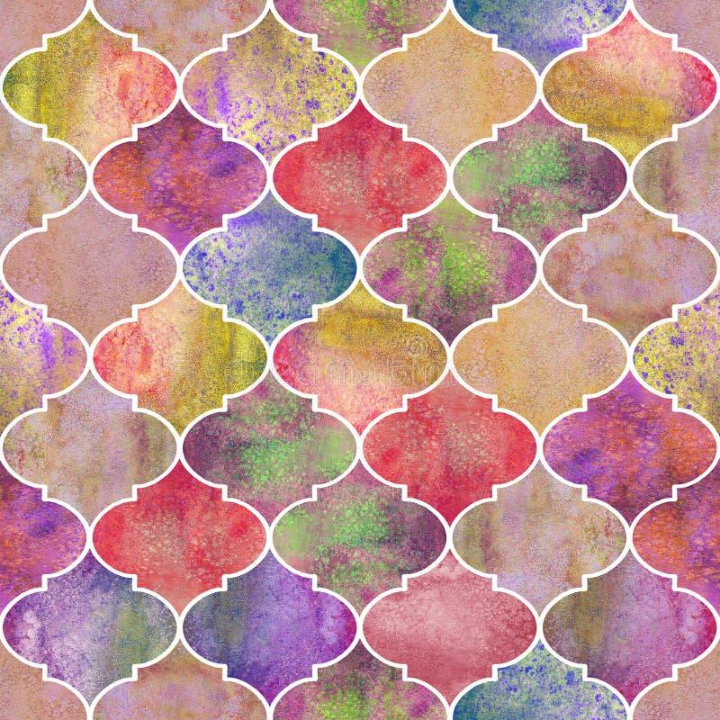 Винтажная декоративная морокканская безшовная картина бесплатная иллюстрация