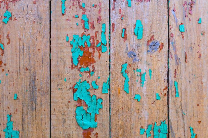 Винтажная деревянная предпосылка с краской шелушения Загородка выдержанная годом сбора винограда стоковые фото
