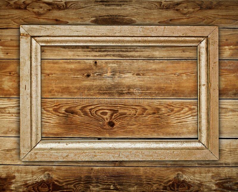 Винтажная деревянная рамка стоковые изображения