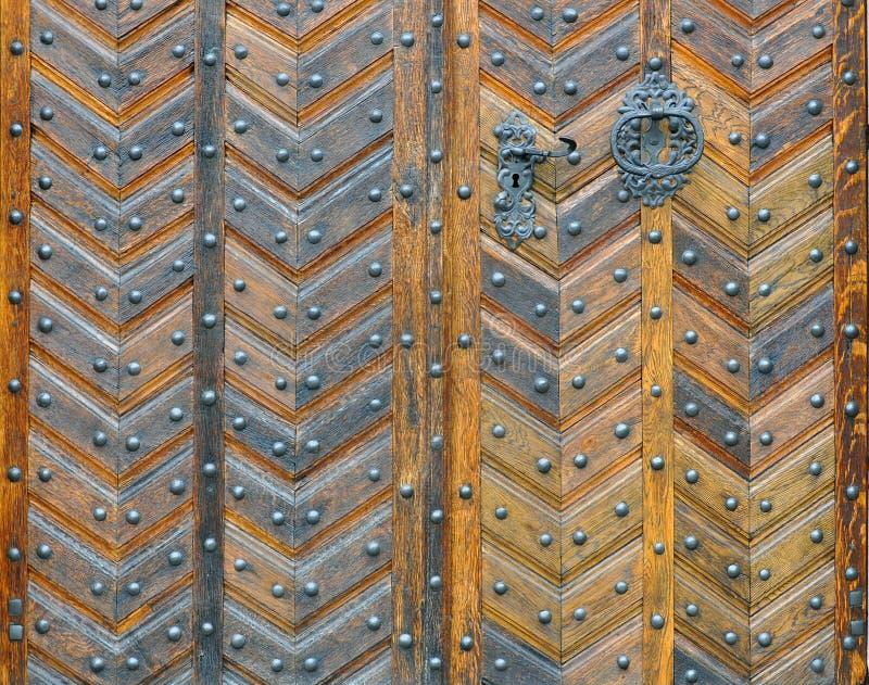 Винтажная деревянная текстура двери стоковое изображение