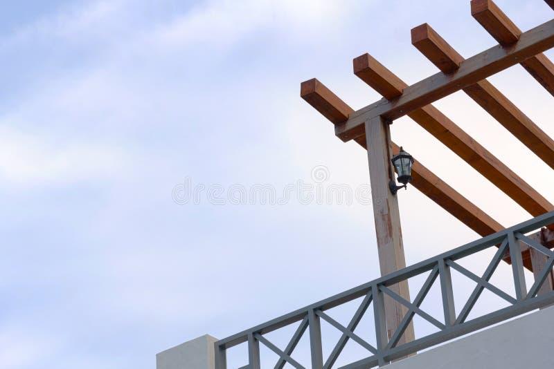 Винтажная деревянная терраса стоковая фотография rf