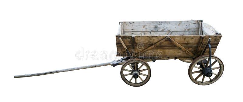 Винтажная деревянная тележка стоковые изображения