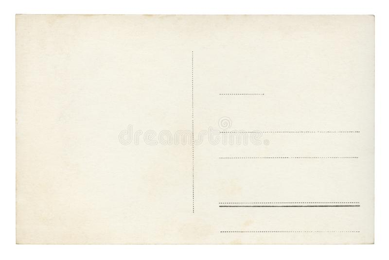 Винтажная изолированная открытка - стоковое фото rf