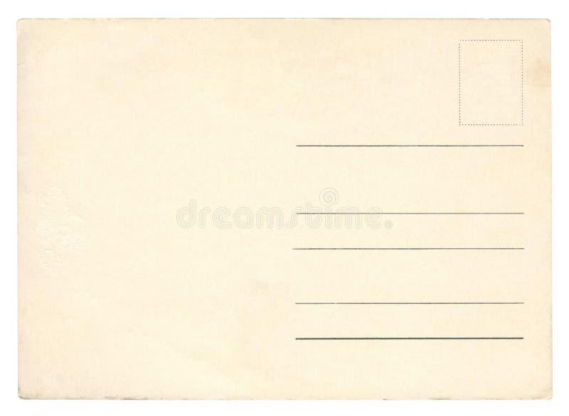 Винтажная изолированная открытка - стоковые изображения rf
