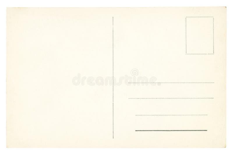 Винтажная изолированная открытка - стоковое изображение rf
