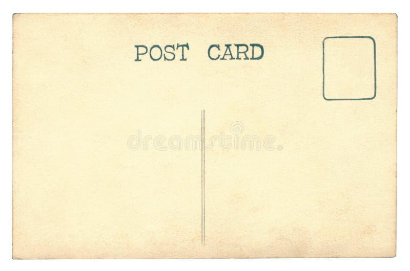 Винтажная изолированная открытка - стоковые фото