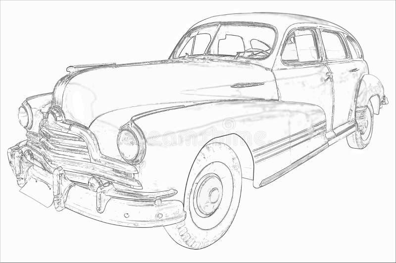 Винтажная иллюстрация автомобиля бесплатная иллюстрация