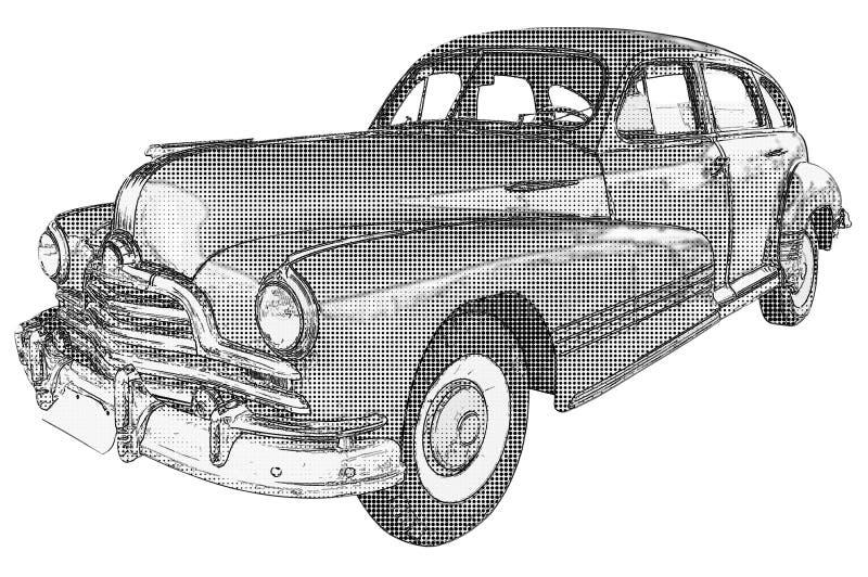 Винтажная иллюстрация автомобиля иллюстрация штока