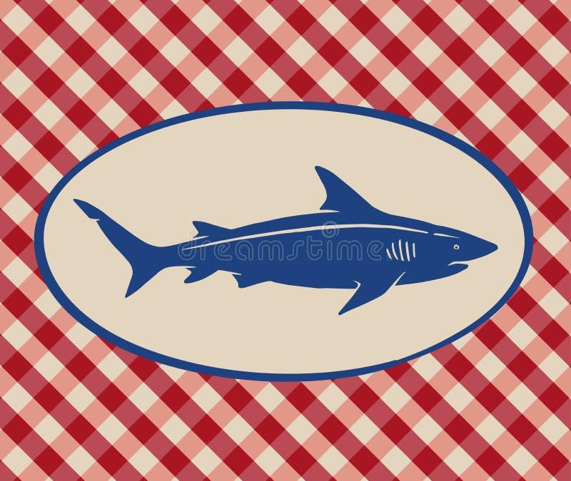 Винтажная иллюстрация акулы иллюстрация штока