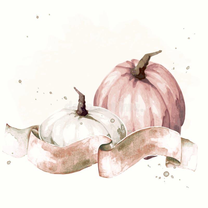 Винтажная иллюстрация благодарения акварели бесплатная иллюстрация