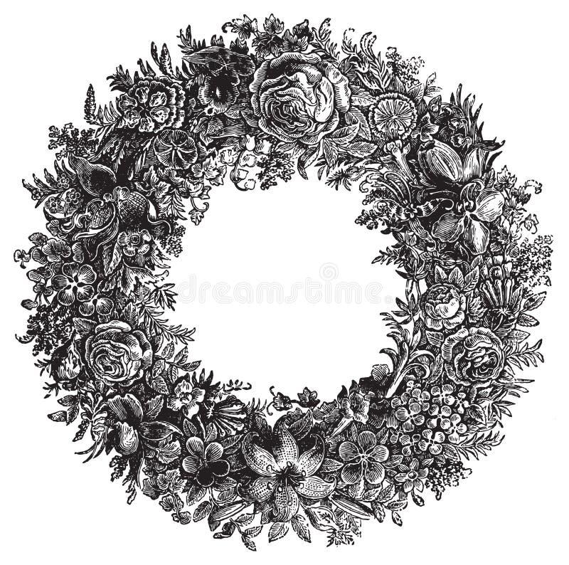Винтажная иллюстрация вектора цветка бесплатная иллюстрация