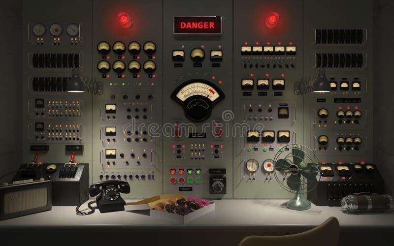Винтажная иллюстрация концепции 3D предпосылки диспетчерского пункта бесплатная иллюстрация