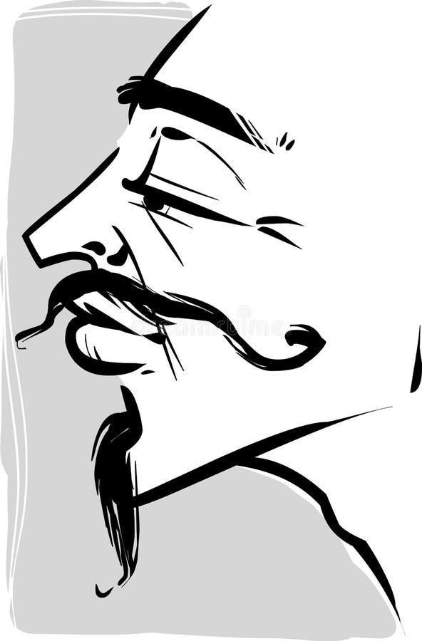 Винтажная иллюстрация молодого человека иллюстрация штока