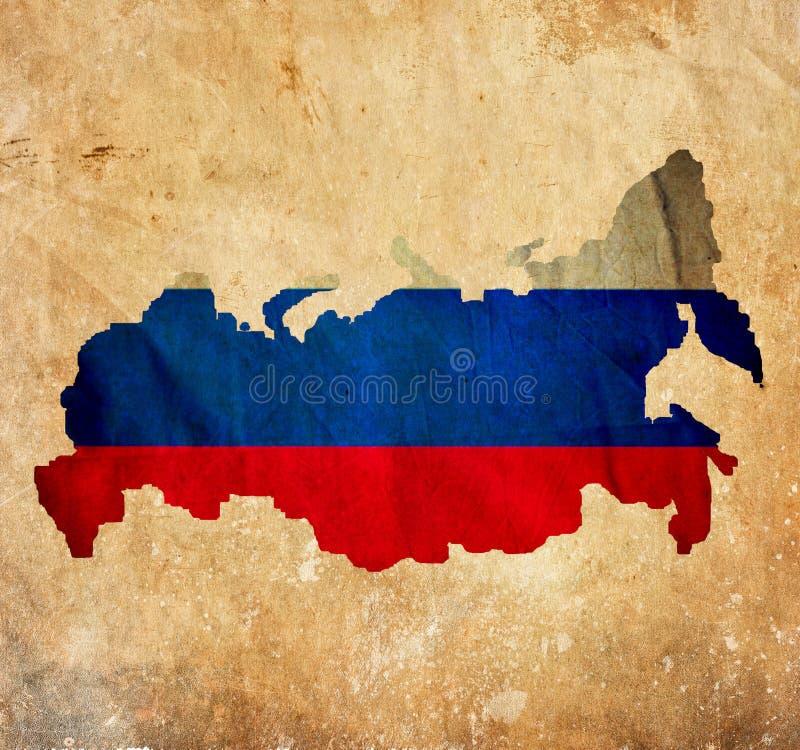 Винтажная карта России на бумаге grunge стоковые изображения rf