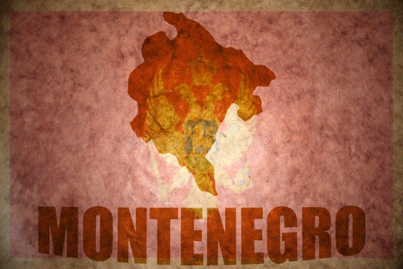 Винтажная карта Черногории иллюстрация вектора