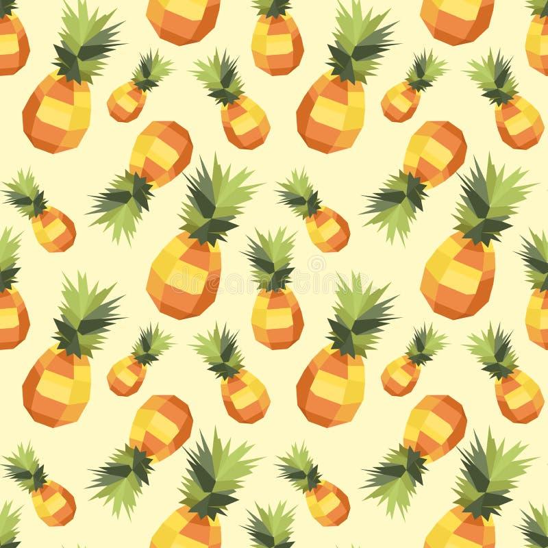 Винтажная картина ананаса полигона стоковое изображение rf