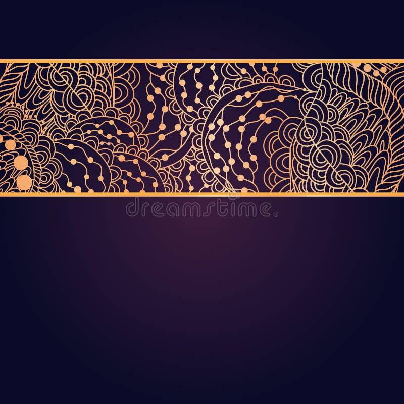 Винтажная карточка приглашения на фиолетовой предпосылке с стоковая фотография rf
