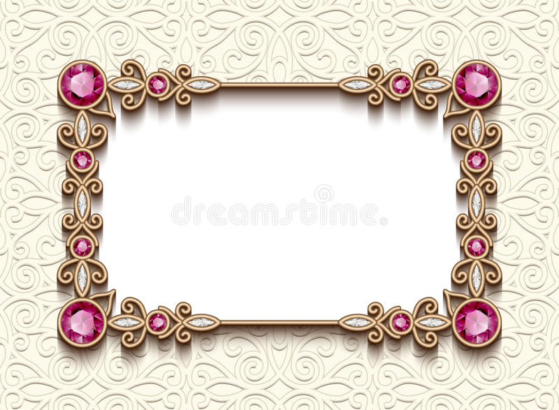 Винтажная карточка ювелирных изделий диаманта, шаблон приглашения бесплатная иллюстрация