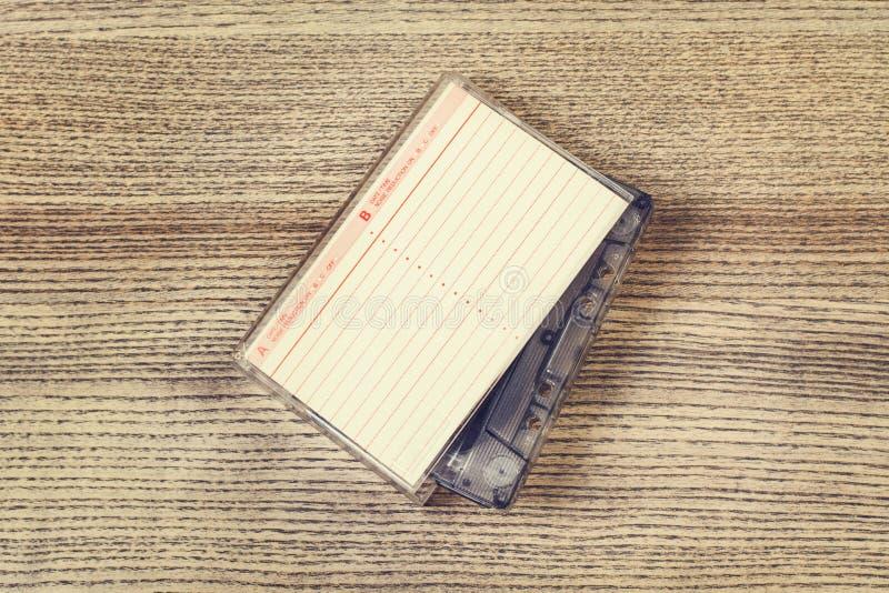Винтажная кассета и своя коробка стоковое фото rf