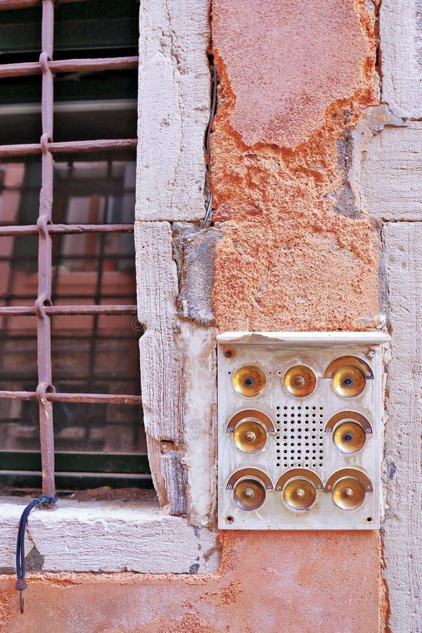 Винтажная кнопка колокола стоковые фотографии rf
