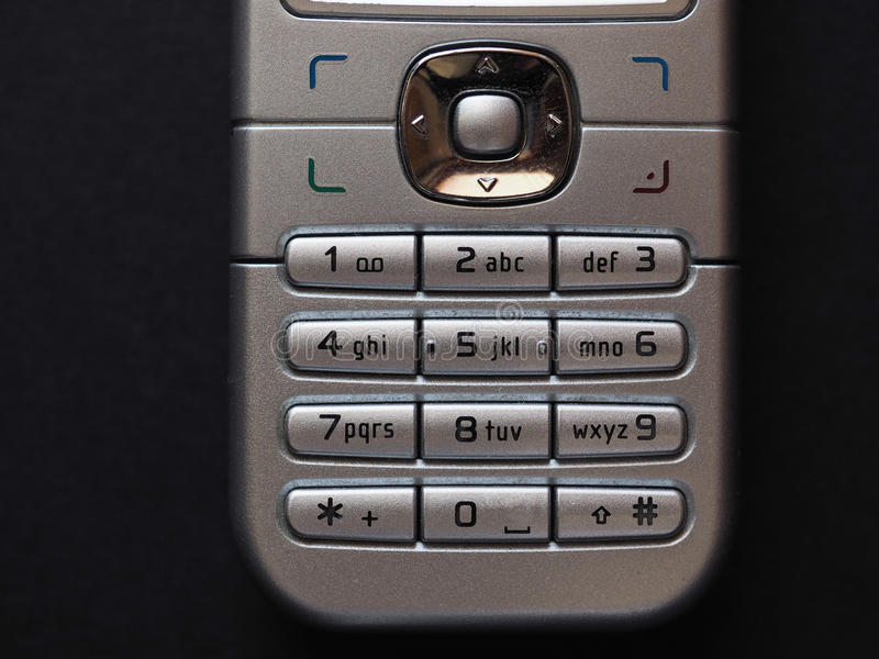 винтажная кнопочная панель телефона стоковое изображение rf