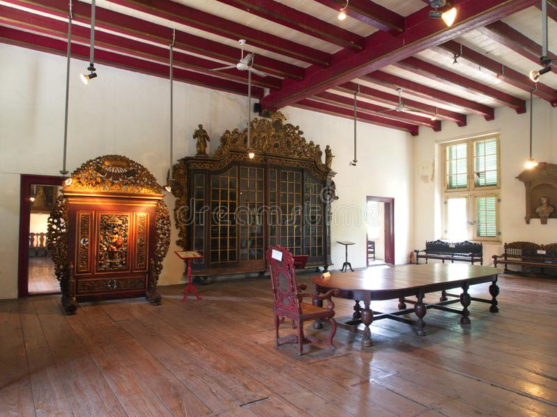 Винтажная комната в истории и Национальный музей Индонезии Tr стоковое изображение