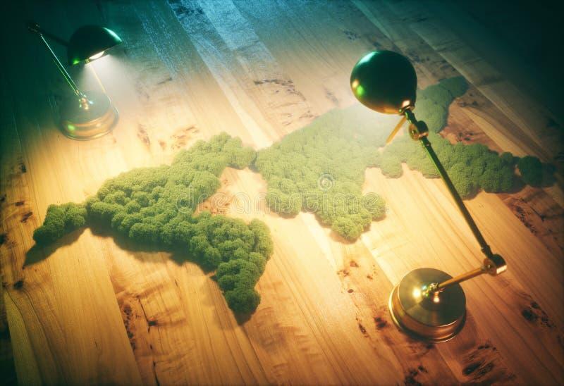 Винтажная концепция устойчивого и сбалансированного развития иллюстрация штока