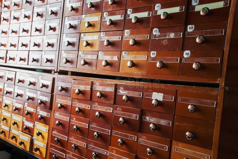 Винтажная коробка каталога файла стоковое фото