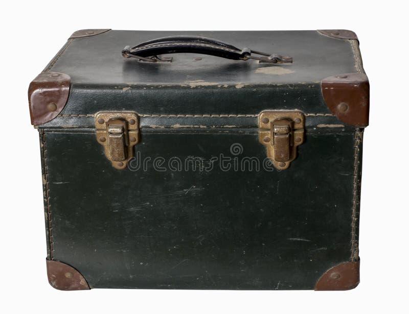 Винтажная коробка швейной машины игрушки с ручкой стоковые фотографии rf