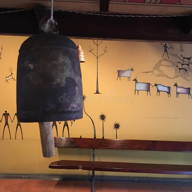 Винтажная корова колокол стоковые фото