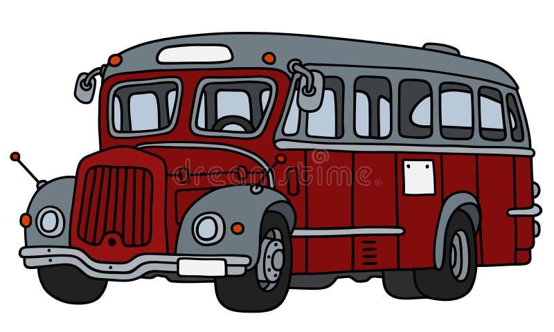 Винтажная красная и серая шина иллюстрация вектора