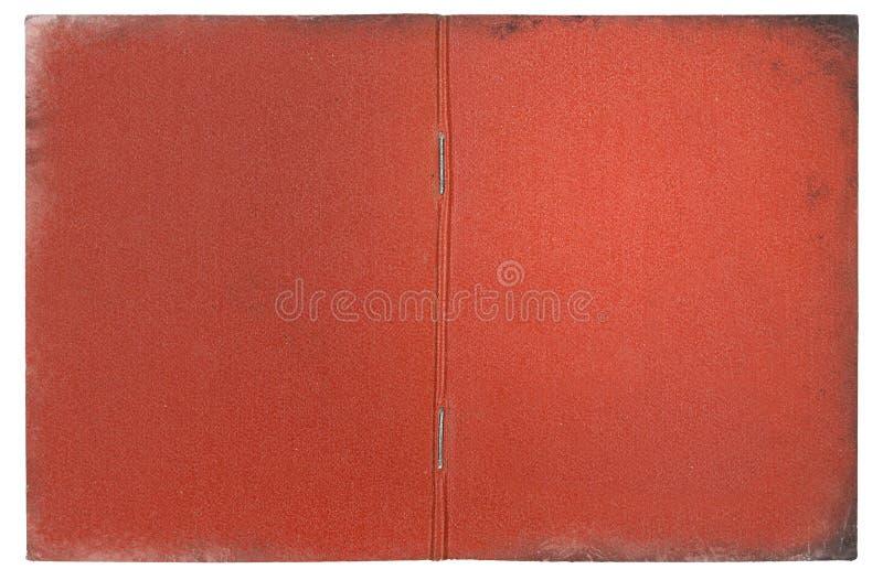 Винтажная красная крышка документа стоковые изображения rf