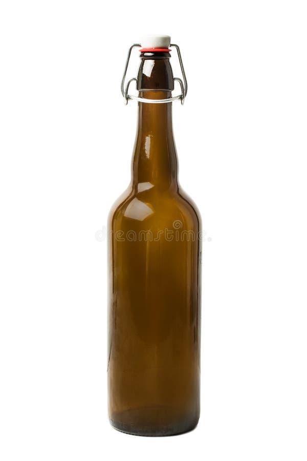 Винтажная кристаллическая бутылка для пива стоковые фото