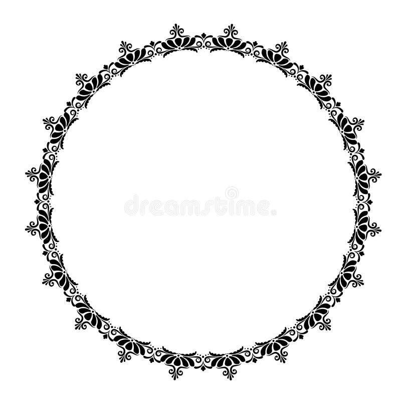 Винтажная круглая рамка в ретро стиле, barroco Цветок декоративный g иллюстрация штока