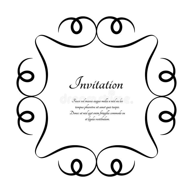 Винтажная круглая рамка, каллиграфическая виньетка бесплатная иллюстрация