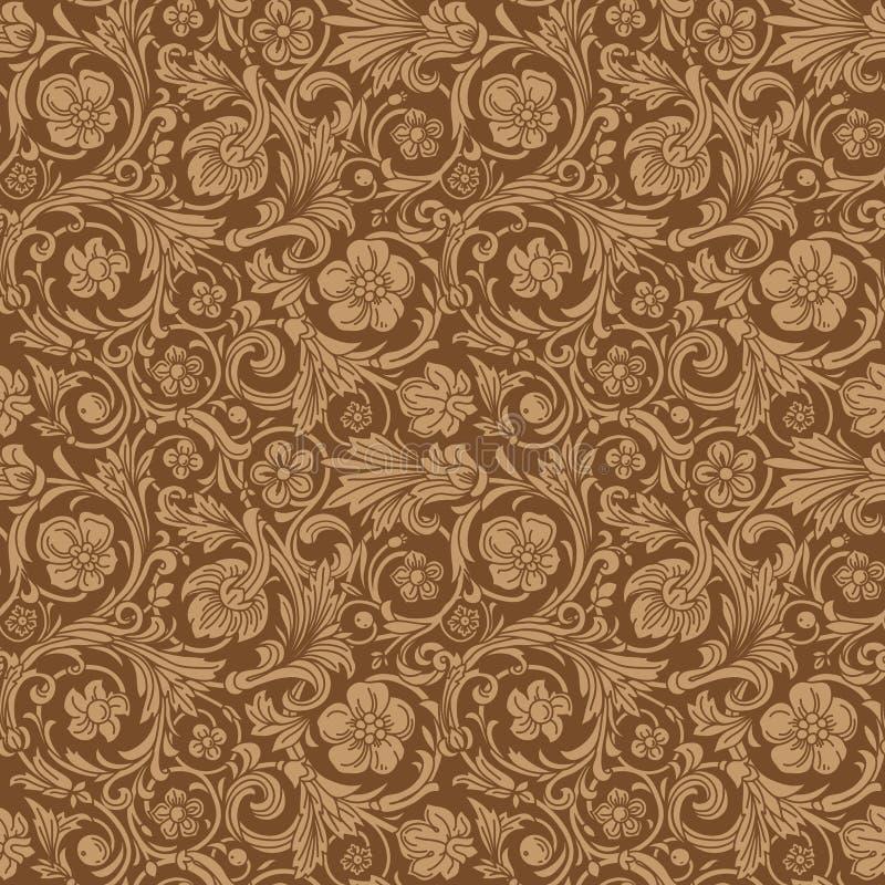 Винтажная классическая орнаментальная безшовная картина вектора иллюстрация штока