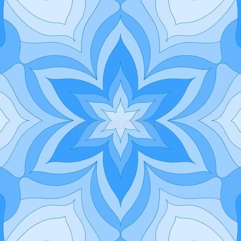 Винтажная мандала карта флористического дизайна Современная рамка печати, плакат Ретро шаблон предпосылки стиля Красочные обои св иллюстрация вектора