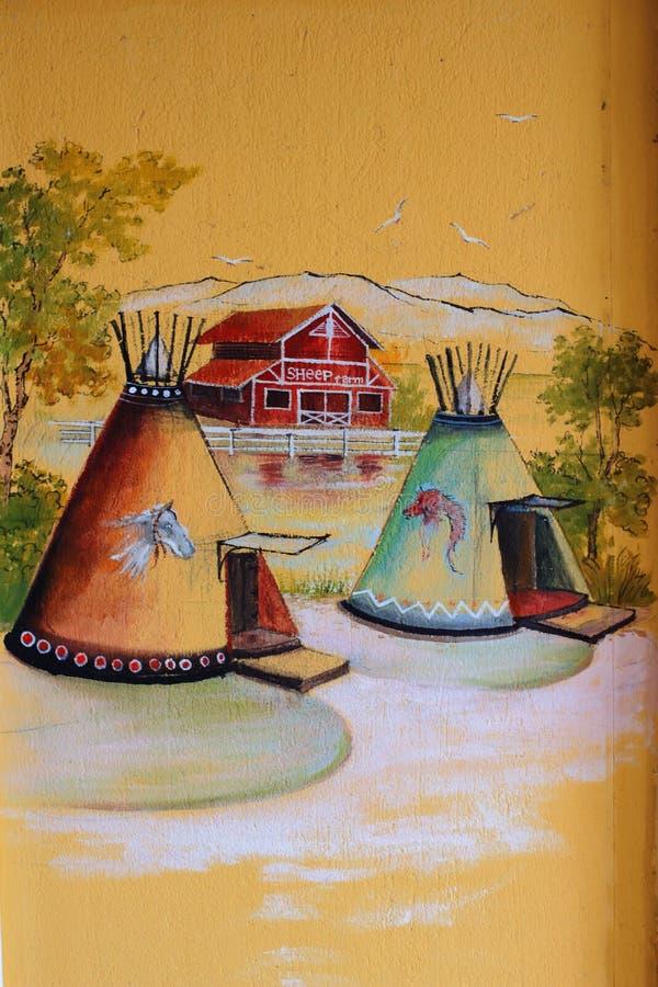 Винтажная настенная роспись стоковая фотография