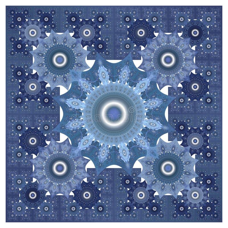 Винтажная орнаментальная картина фрактали иллюстрация вектора