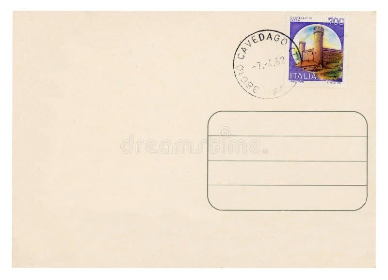 Винтажная открытка - стоковое фото rf