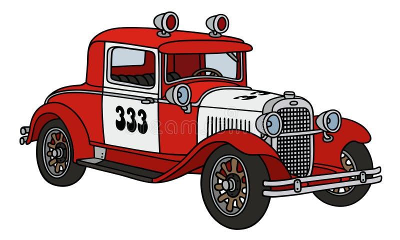Винтажная патрульная машина огня иллюстрация вектора