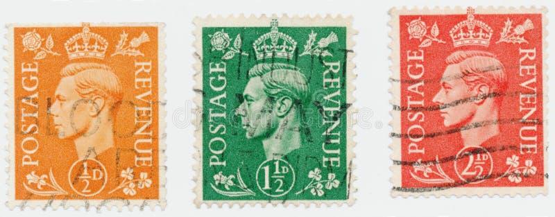 Винтажная печать напечатанная в Великобритании 1951 шоу, король Джордж VI стоковое изображение