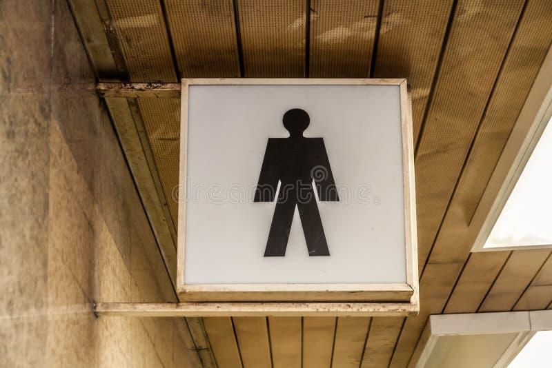 Винтажная пиктограмма WC стоковое фото